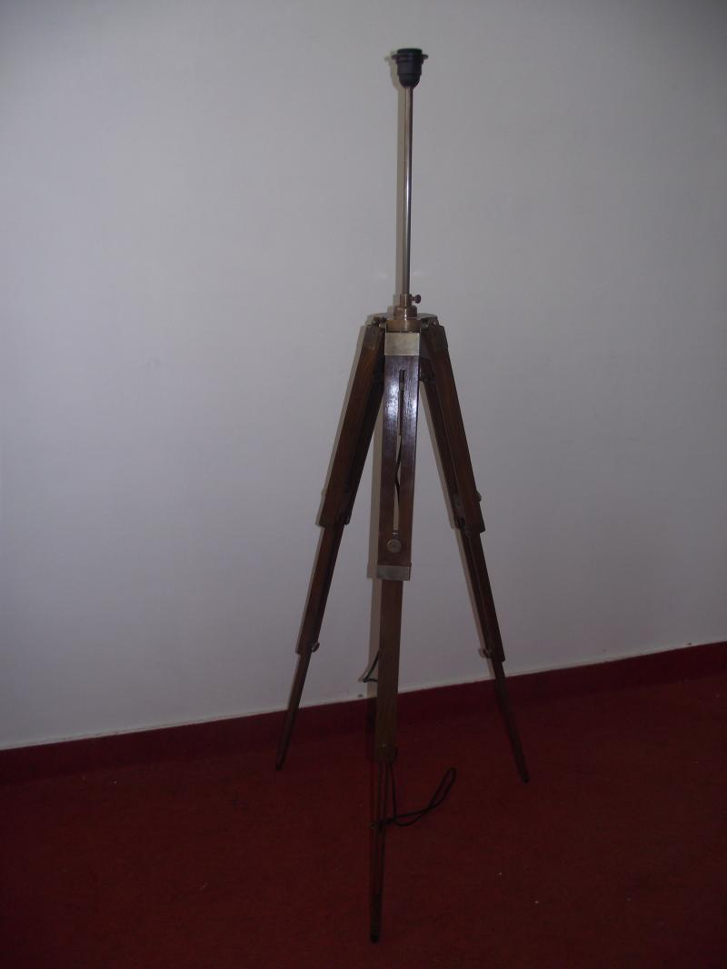 Antique royal nautical tripod floor lamp wooden tripod for Royal marine tripod floor lamp antique brass