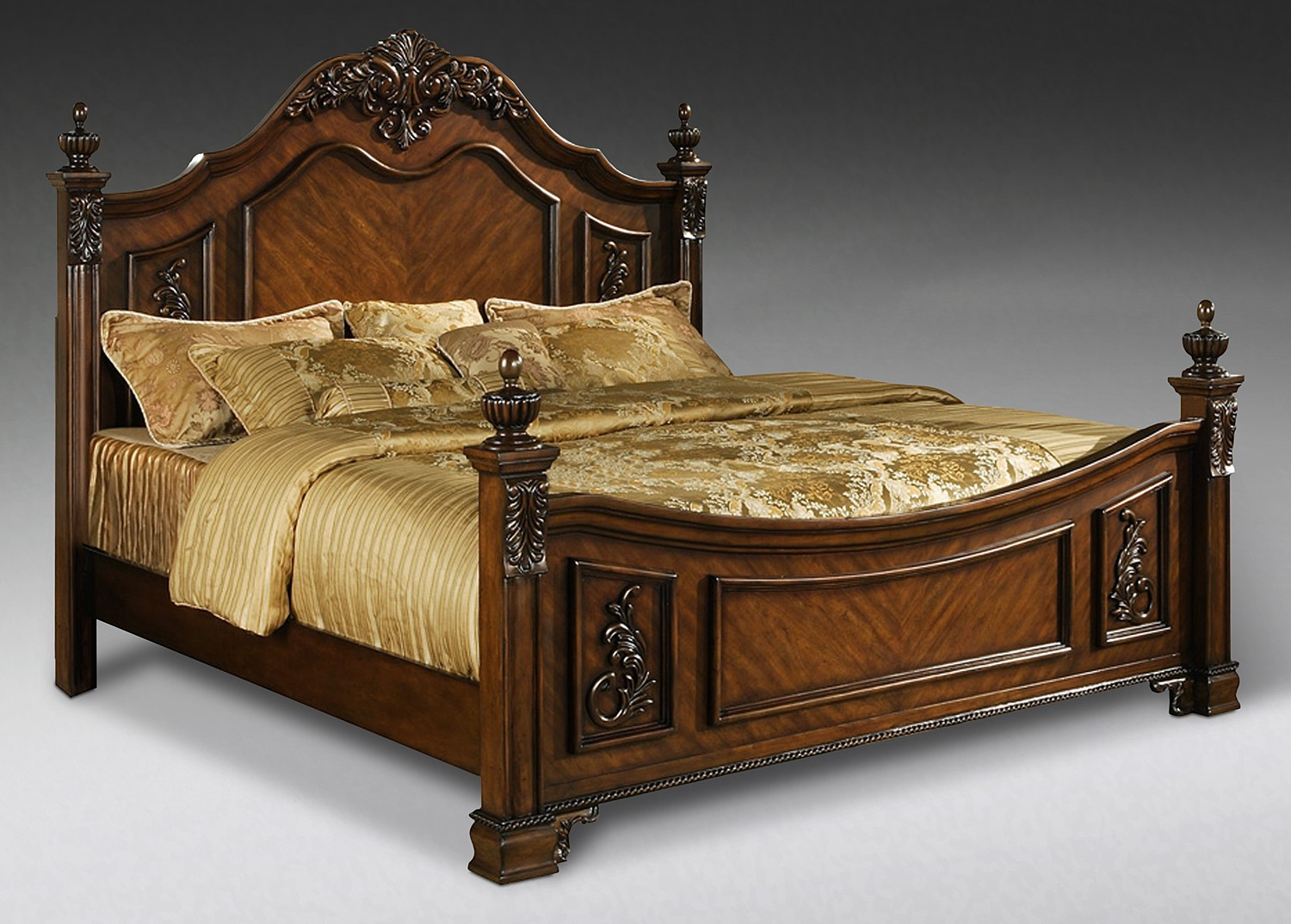 Double bed designs in wood - Indian Solid Wood Bed Indian Wooden Storage Beds Indian