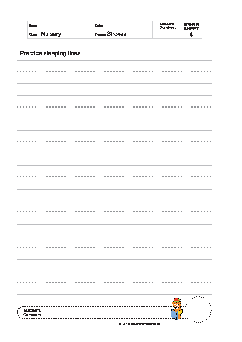 100+ [ Tracing Lines Worksheets For Nursery ] | Big And Small ...
