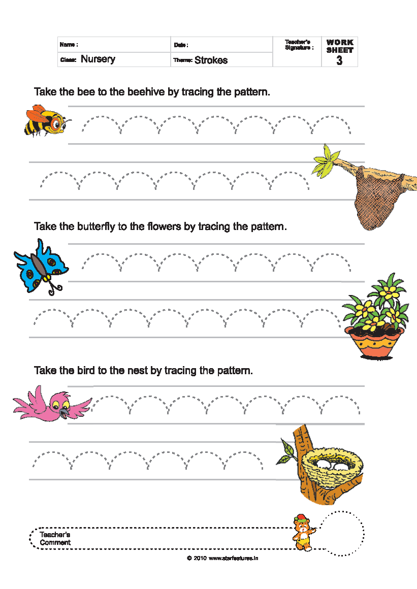 Worksheets For Pre Primary : Free pre primary worksheets