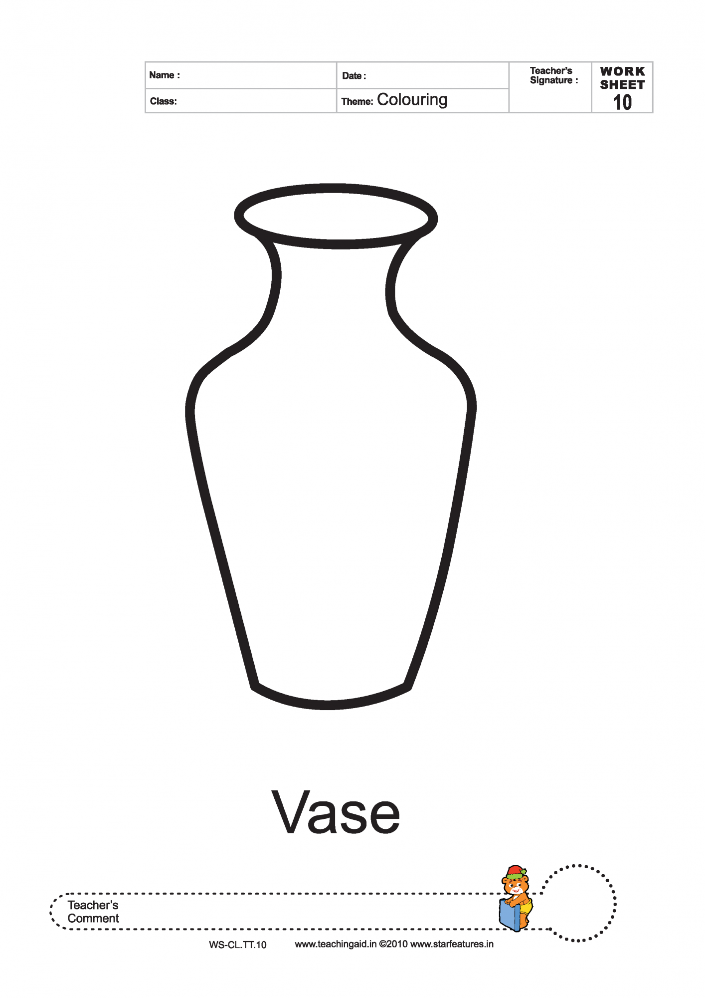 v is for vase coloring pages - photo #22