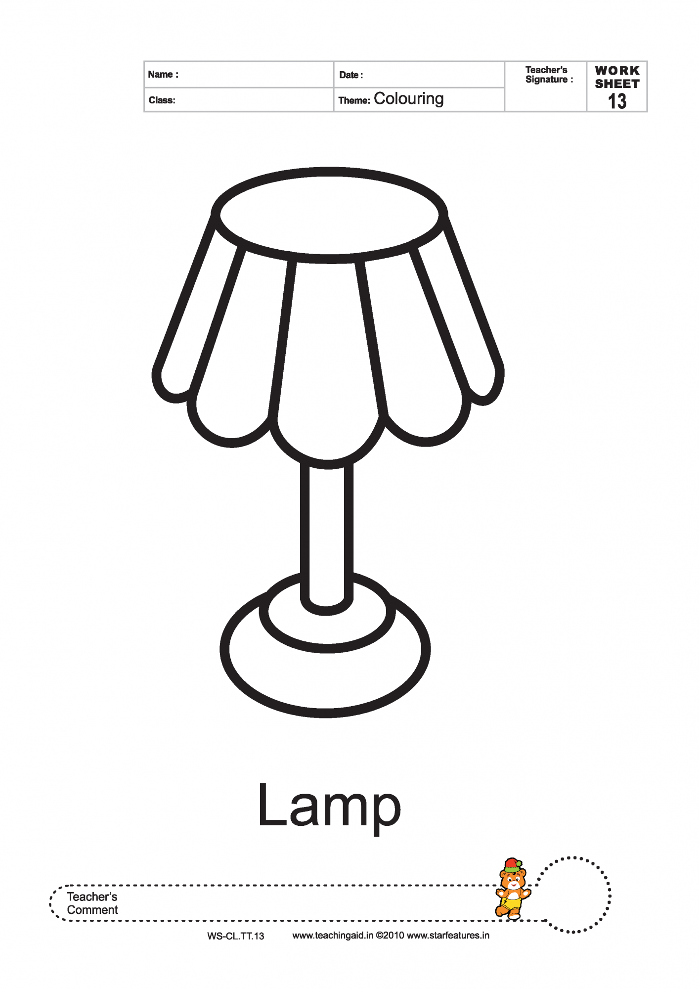 lamp coloring page pictures to pin on pinterest