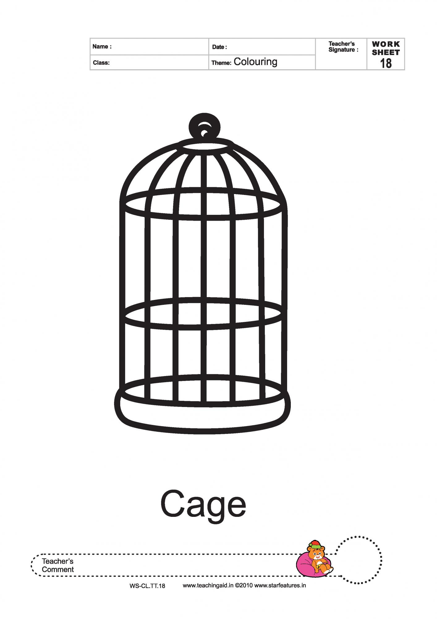 Bird Cage Printable